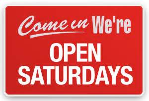 Open Saturdays Sign
